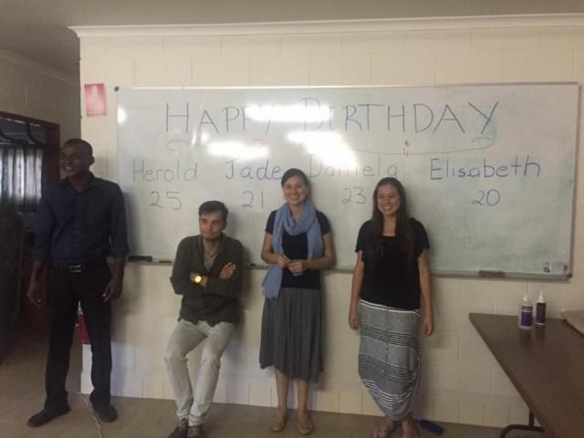 The four birthdays and farewell dinner
