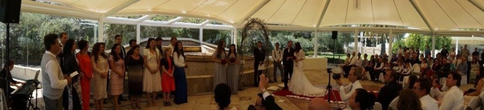 Wedding panoramic view